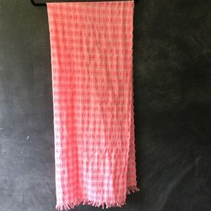J. CREW | Pink and White Checked Scarf/Wrap